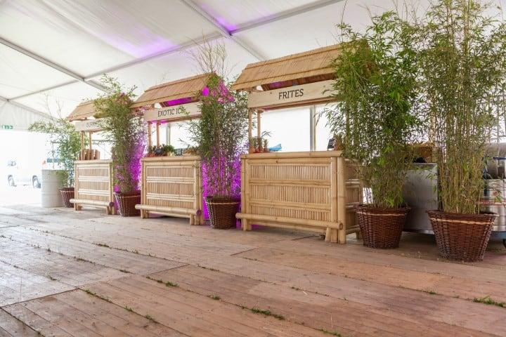 Bamboe decoratie en meubels voor uw evenement in tropische sfeer